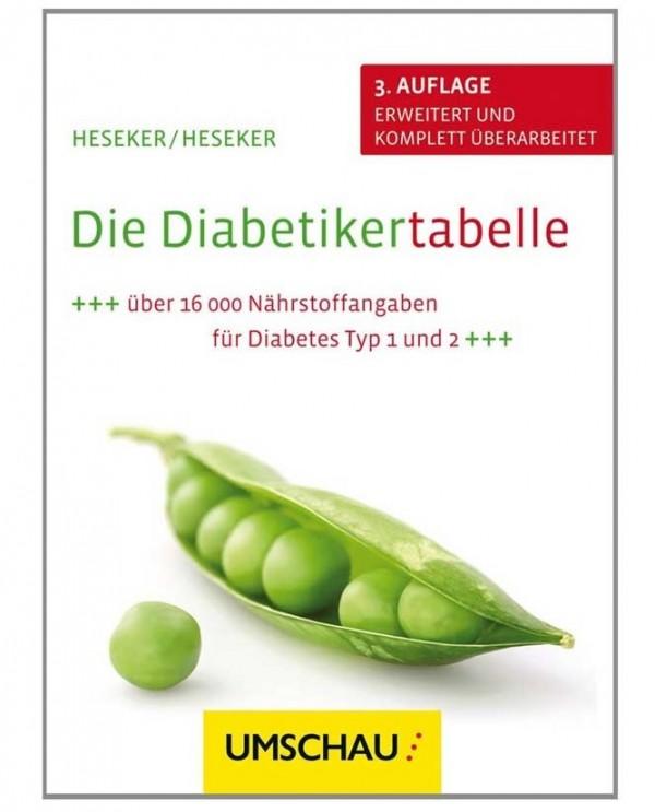 Heseker/Heseker: Die Diabetikertabelle, 3. Auflage, erweitert und komplett überarbeitet, Mai 2013, Neuer Umschau Buchverlag; ISBN: 978-3-86528-137-1.