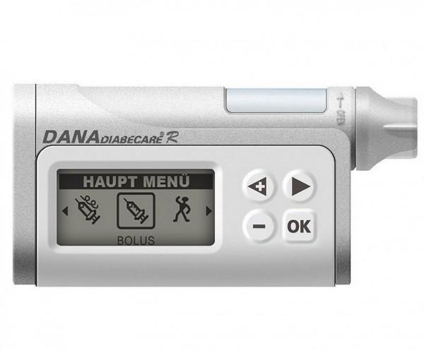 Als leichteste Insulinpumpe der Welt ist die DANA R ein treuer und handlicher Begleiter.  Quelle: DiaShop