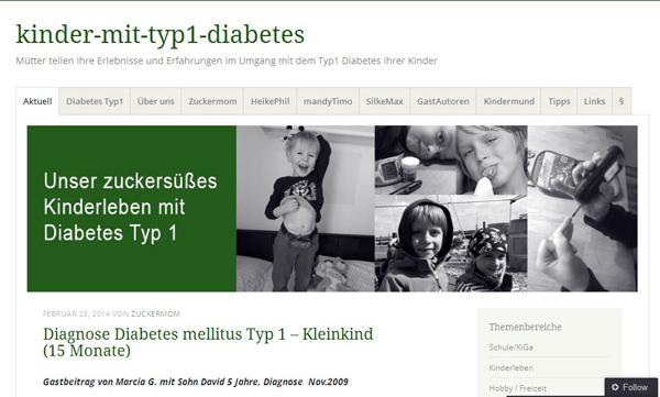 """""""kinder-mit-typ-1-diabetes"""" lautet der Name des Blogs, den vier Mütter ins Leben gerufen haben. Quelle: http://kindermittyp1diabetes.wordpress.com/"""