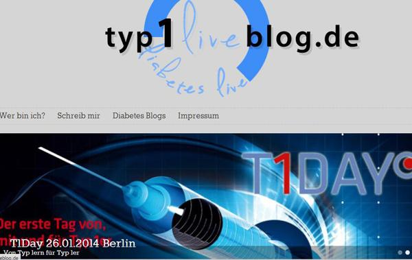"""typ1liveblog.de"" lautet der Name des Blogs, den Matthias Lindl aus der Taufe gehoben hat. Quelle: http://typ1liveblog.de/"