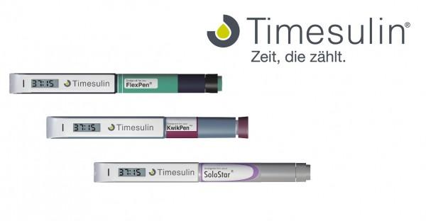 Timesulin gibt es für alle gängigen Fertigpens.  ©EvivaMed GmbH