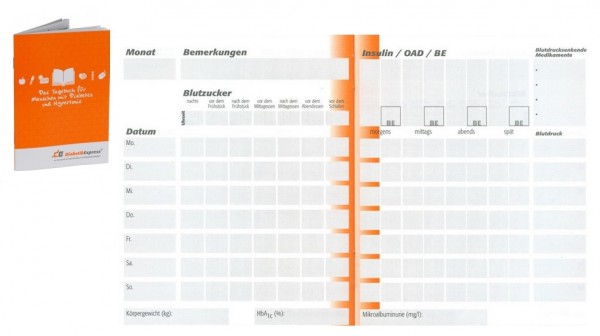 Bei DiaShop gibt es unter anderem eine Auswahl an erstklassigen Diabetes-Tagebüchern wie z.B. das DE-Tagebuch.