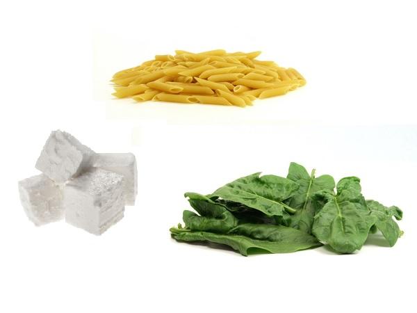 Aus Schafskäse, Nudeln und Spinat kann man einen leckeren Salat zaubern.  ©W. R. Wagner / PIXELIO