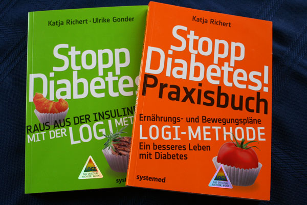 """""""Stopp Diabetes! Raus aus der Insulinfalle mit der LOGI-Methode"""" und """"Stopp Diabetes! Praxisbuch"""" heißen die Ratgeber, die Diabetesberaterin Katja Richert verfasst hat."""