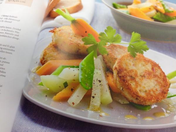 Lecker und gesund - Quark-Planzerl mit Gemüse.