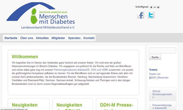 Der DDH-M Landesverband Mitteldeutschland umfasst Selbsthilfegruppen von Diabetikern in Sachsen, Thüringen und Sachsen-Anhalt.