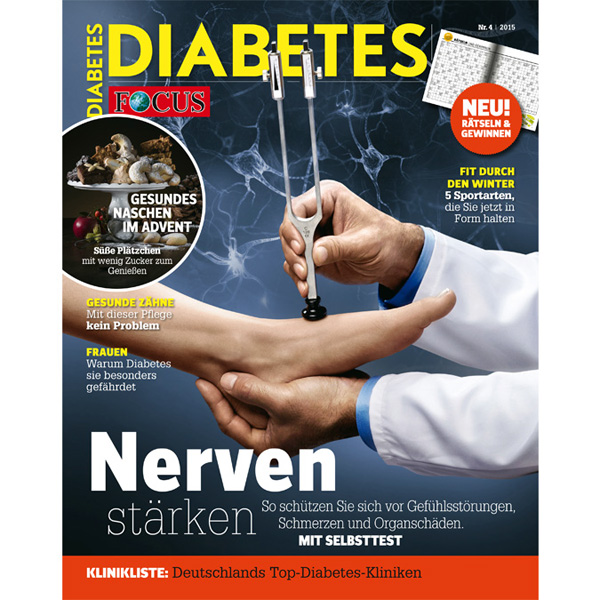 Ganz druckfrisch: Das Focus-Diabetes Magazin 04/15.