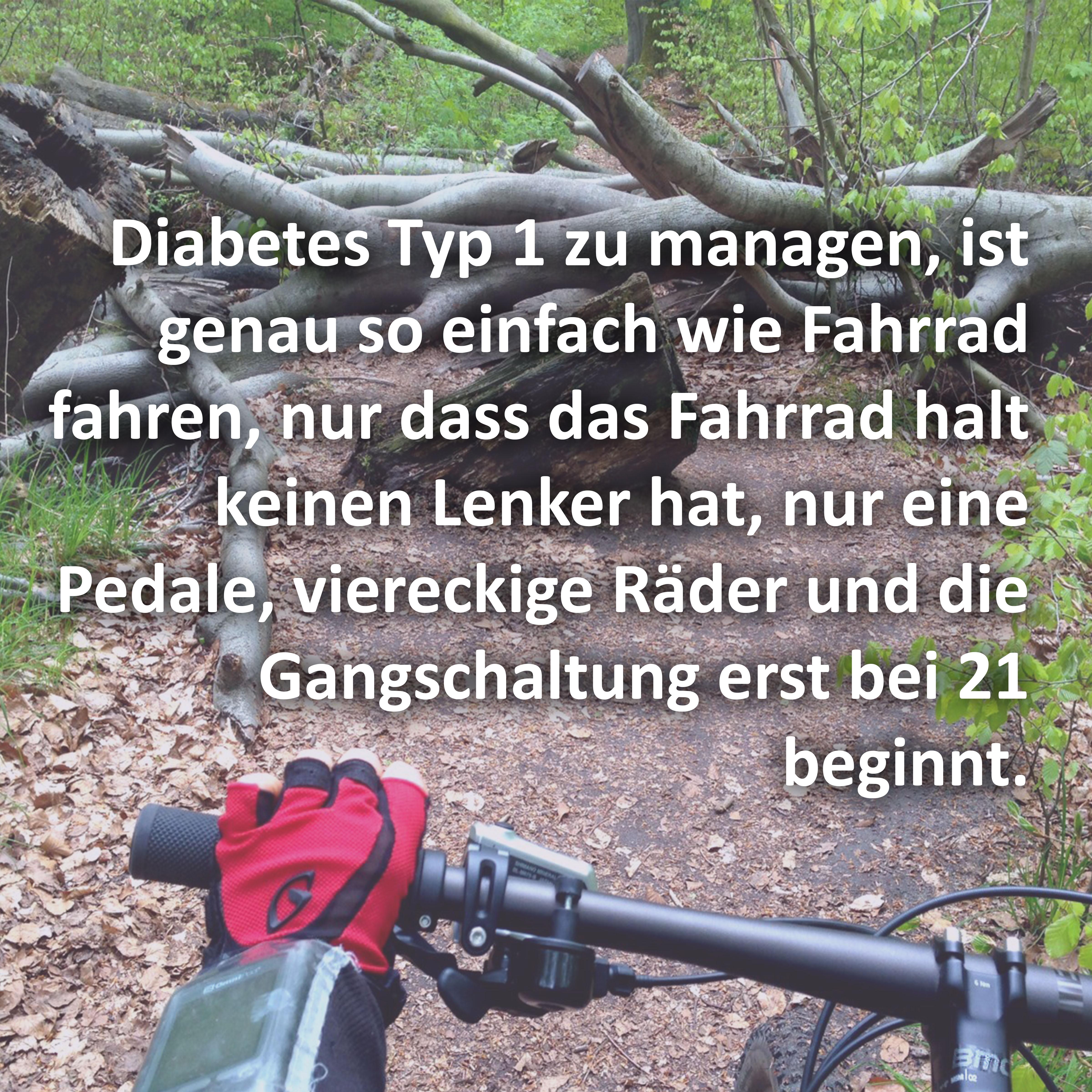 Diabetesmanagement wie Fahrradfahen
