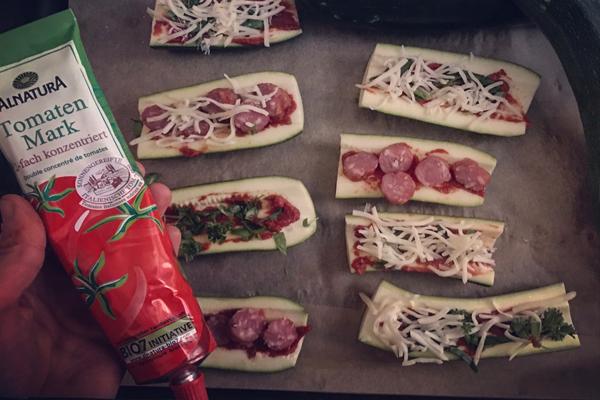Baguettes aus Zucchini-Teig