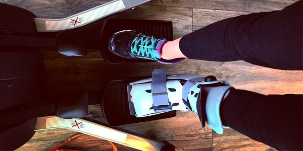 Workout mit Gips