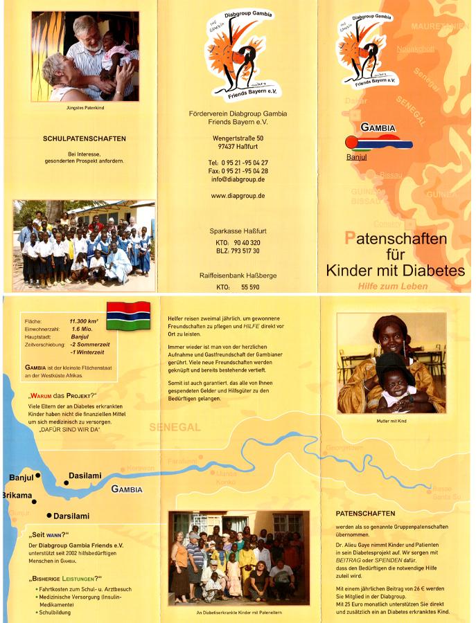 Flyer Diabetes-Spendenprojekt