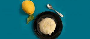 Zitronensorbet ohne Zucker