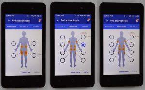 Omnipod DASH Podstellen Körperregionen